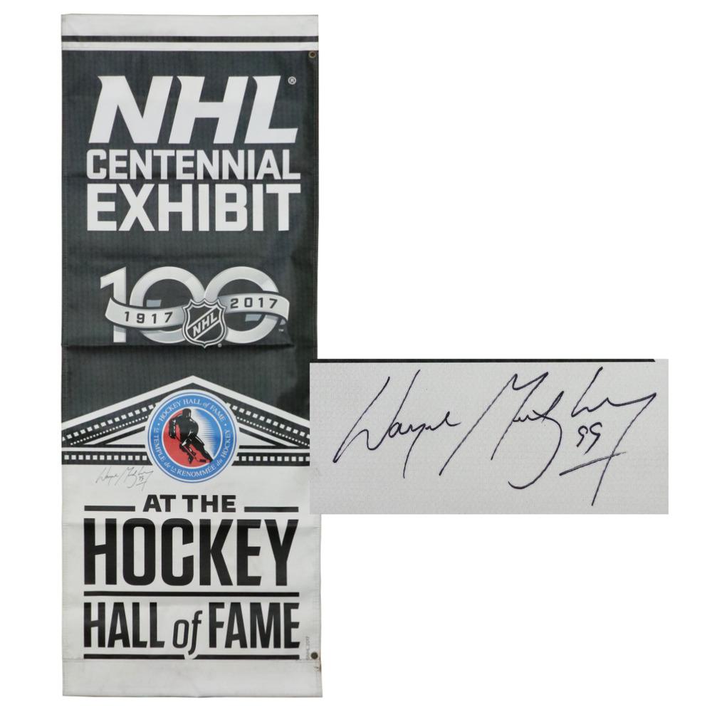 Wayne Gretzky Autographed NHL Centennial Street Banner
