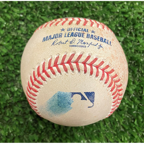 Photo of Willy Adames Hit Single Baseball off Ian Anderson - 10/11/21 - NLDS Game 3