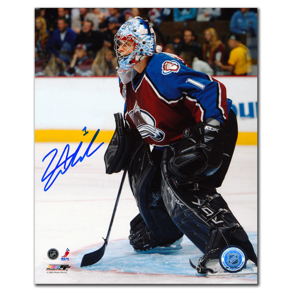 David Aebischer Colorado Avalanche Autographed 8x10