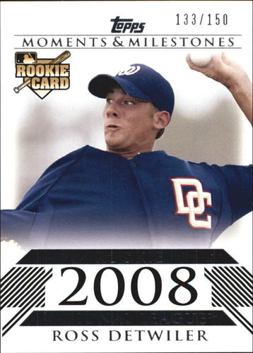 Photo of 2008 Topps Moments and Milestones #178 Ross Detwiler RC