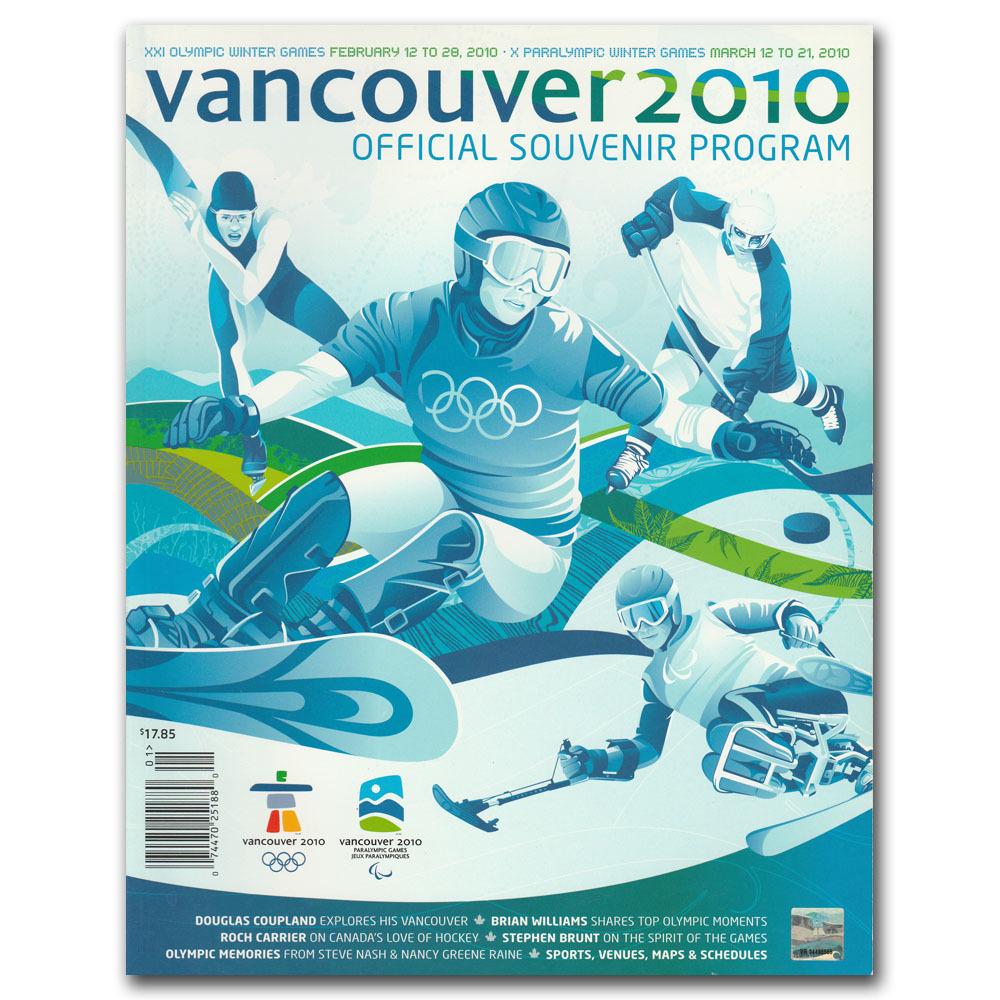 2010 Vancouver Olympics Official Souvenir Program