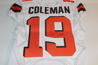 STS - BROWNS COREY COLEMAN GAME ISSUED AND SIGNED BROWNS JERSEY (NOVEMBER 6 2016)