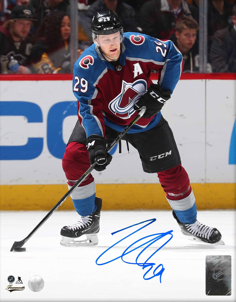 Nathan Mackinnon - Signed 8x10 Unframed Avalanche Action