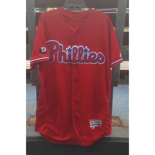 Photo of 2017 Game-Used Nick Williams Red Alternate Jersey