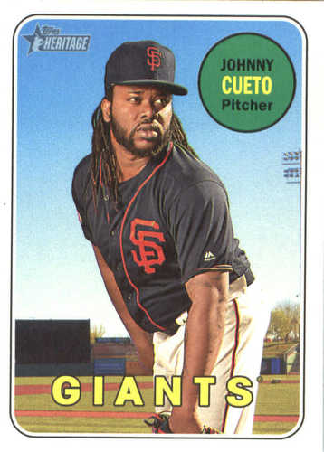 Photo of 2018 Topps Heritage #64 Johnny Cueto