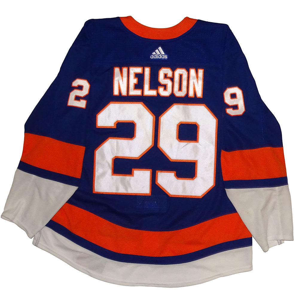 Brock Nelson - Game Worn Home Jersey - 2017-18 Season - New York Islanders