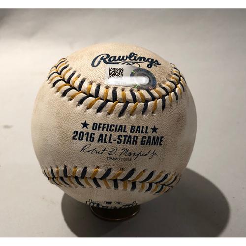 Photo of 2016 All Star Game-Used Baseball - Pitcher: Kelvin Herrera, Batter: Jay Bruce (Strikeout)