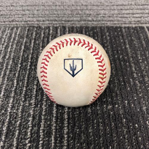 Photo of San Francisco Giants - 2019 Game Used Spring Training Baseball - 2/25/19 vs CWS - Dereck Holland to Luis Robert - 2 RBI Triple