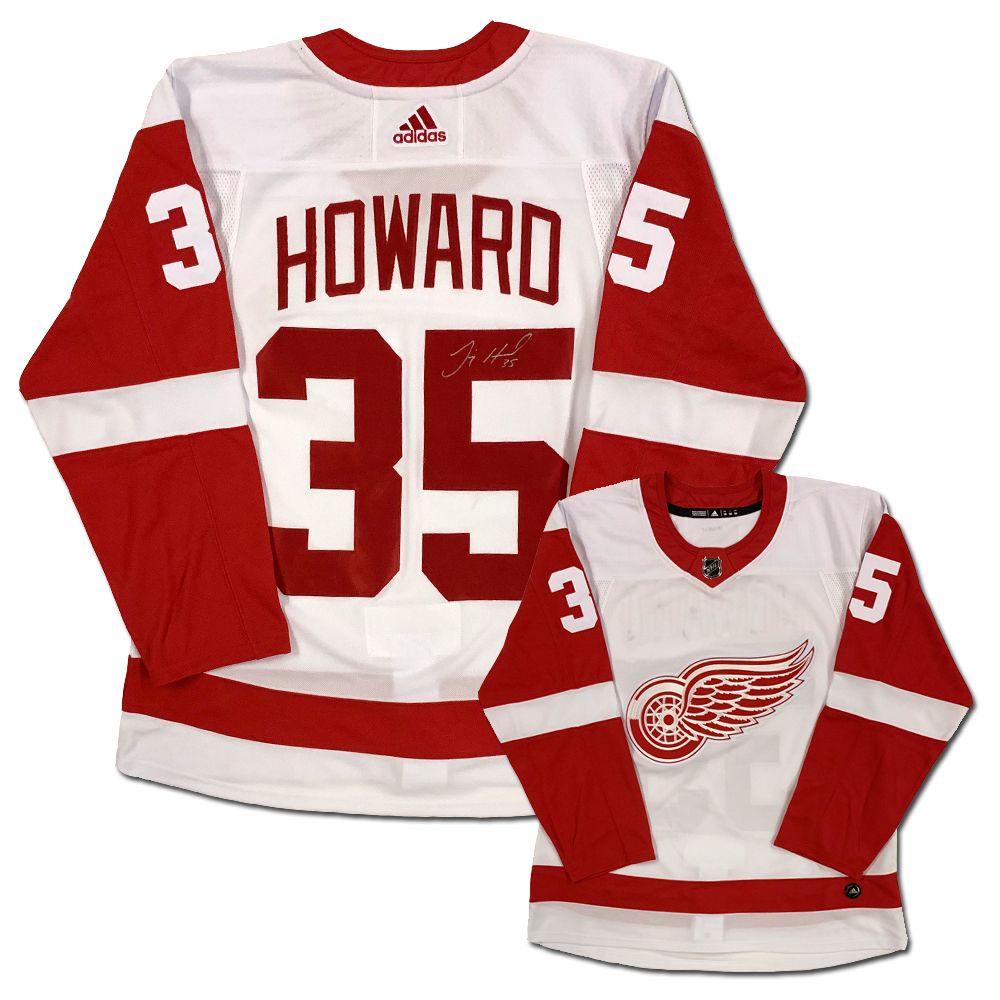 buy popular 89f3a a97f9 Jimmy Howard Signed Detroit Red Wings White Adidas Jersey ...