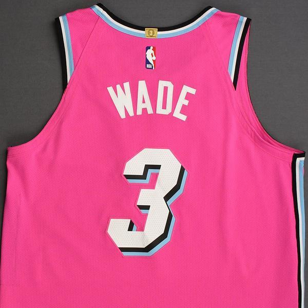 size 40 853bf 92462 Dwyane Wade - Miami Heat - 2018-19 Season - Game-Worn 1st ...