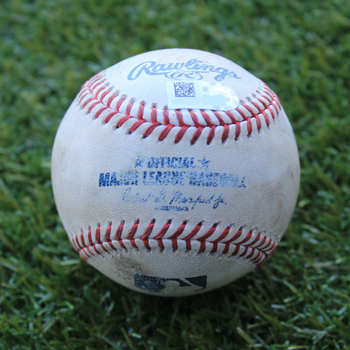 Photo of Game-Used Baseball: Tim Anderson 86th Career Double and 179th Career RBI (CWS @ KC - 6/9/19)