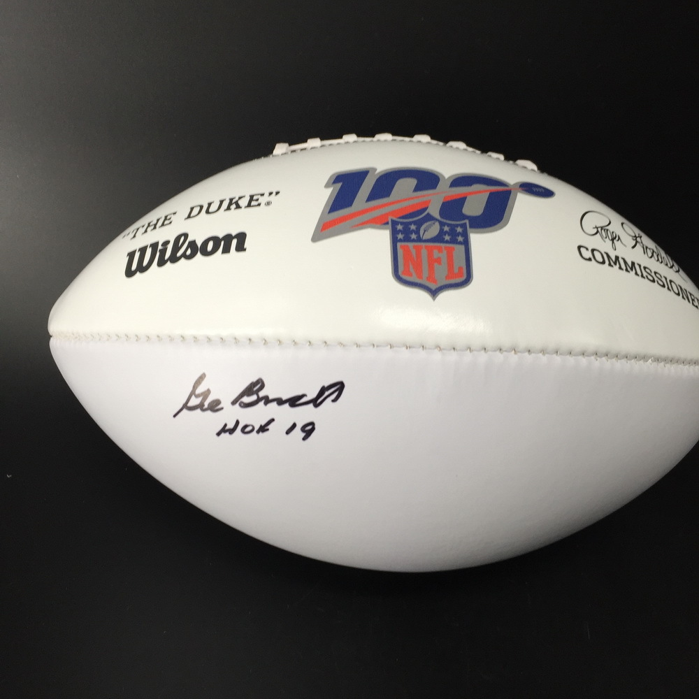 HOF - Cowboys Gil Brandt Signed NFL Auction Exclusive Panel Ball W/ 100 Seasons Logo