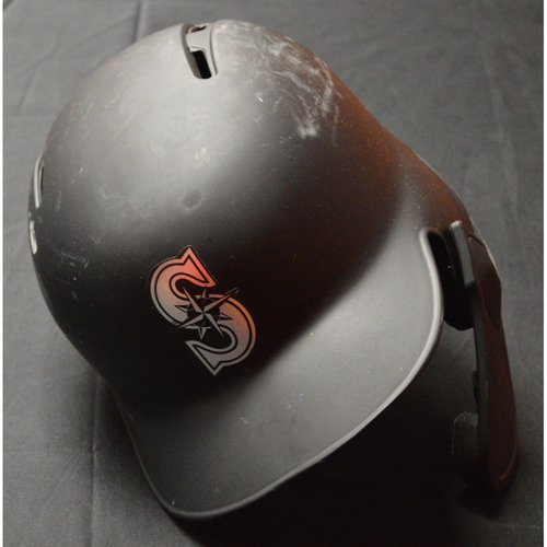 "Photo of Tim ""LOPES"" Lopes Seattle Mariners Game-Used 2019 Players' Weekend Helmet"