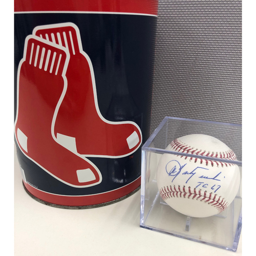 Photo of Carl Yastrzemski Autographed Triple Crown Baseball