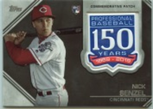 Photo of 2019 Topps Update 150th Anniversary Manufactured Patches #AMPNS Nick Senzel
