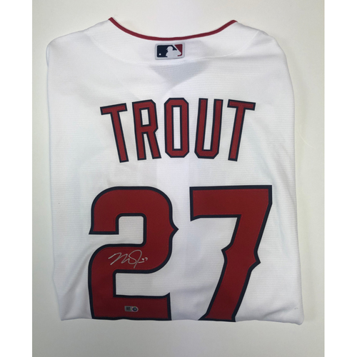 Photo of Mike Trout Autographed Replica White Angels Jersey