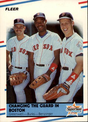 Photo of 1988 Fleer #630 Mike Greenwell/Ellis Burks/Todd Benzinger