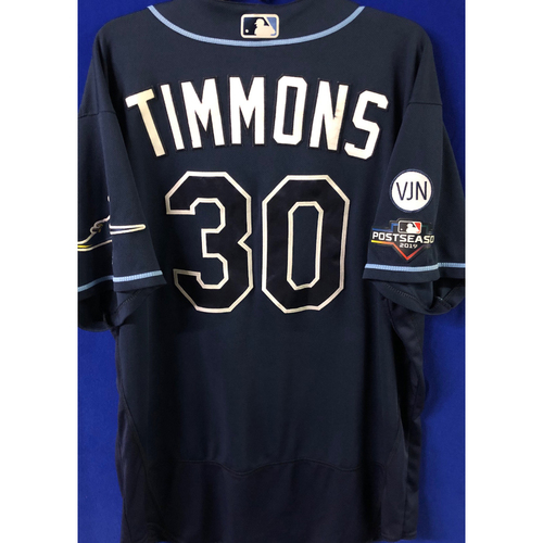 Photo of Game Used Postseason Jersey (WC/ALDS): Ozzie Timmons  - October 2 (OAK) & October 10 (HOU)
