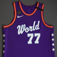 Luka Doncic - 2020 NBA Rising Stars - Team World - Game-Worn 1st Half Jersey