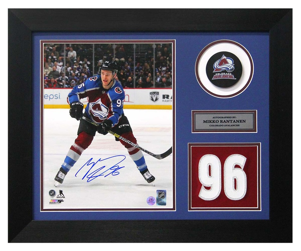 Mikko Rantanen Colorado Avalanche Signed Franchise Jersey Number 20x24 Frame