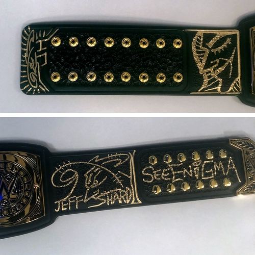 Jeff Hardy SIGNED Intercontinental Championship Replica Title