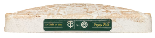 Photo of Game-Used 2nd Base -- Used in Innings 1 through 9 -- Twins vs. Cubs -- 9/20/20