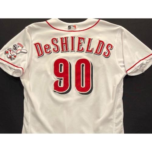 Delino DeShields -- 2020 Home White Jersey -- Team Issued -- Size 46
