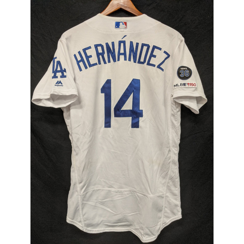 "Photo of Enrique ""Kiké"" Hernandez Game-Used Home Jersey, Last Home Game of 2019"