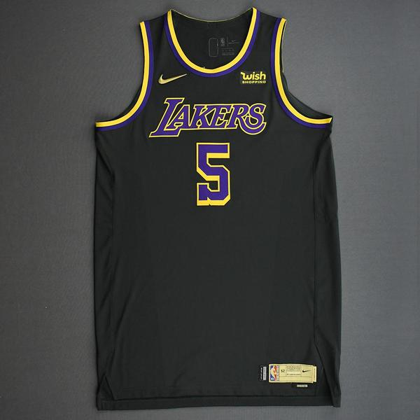 Image of Talen Horton-Tucker - Los Angeles Lakers- Game-Worn Earned Edition Jersey - 2020-21 NBA Season