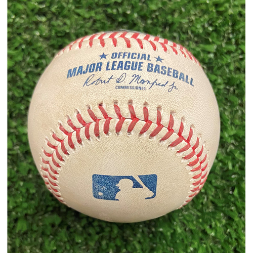 Photo of Ian Anderson Strikeout Ball of Christian Yelich - 10/11/21 - NLDS Game 3