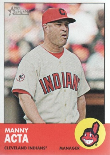 Photo of 2012 Topps Heritage #48 Manny Acta MG