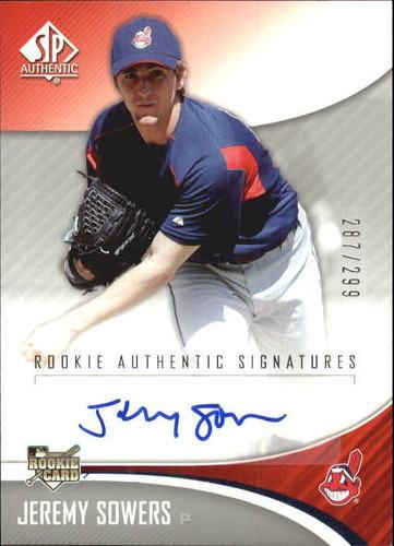 Photo of 2006 SP Authentic #265 Jeremy Sowers AU/299 (RC)