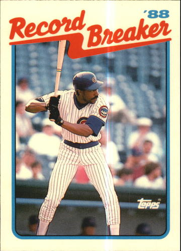 Photo of 1989 Topps Tiffany #4 Andre Dawson RB/Logs Double Figures/in HR and SB