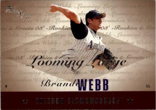 Photo of 2003 Fleer Rookies and Greats Looming Large Uncommon #BW Brandon Webb