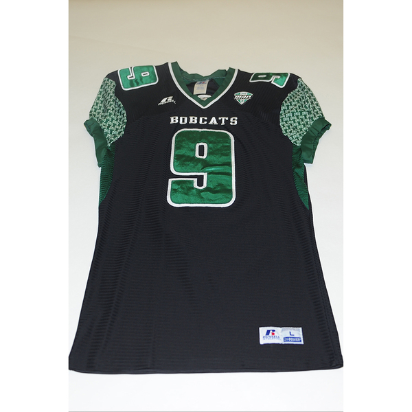 Photo of # 9 - Official OHIO BOBCATS Game Worn Football Jersey (2011) - SIZE LARGE