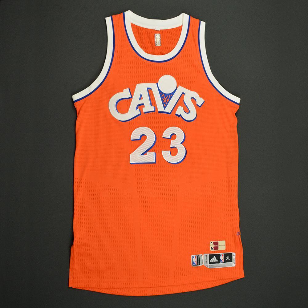 LeBron James - Cleveland Cavaliers - Game-Worn Orange '1986-87 ...