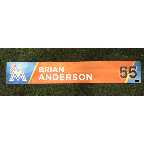 Game-Used Locker Tag: Brian Anderson