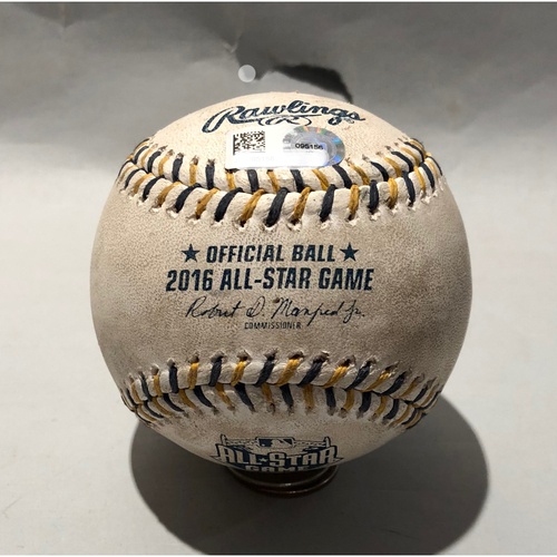 Photo of 2016 All Star Game-Used Baseball - Pitcher: Max Scherzer, Batter: Eric Hosmer (Foul ball)