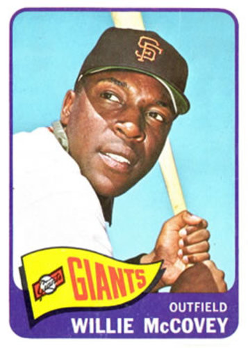 Photo of 1965 Topps #176 Willie McCovey -- Hall of Fame Class of 1986