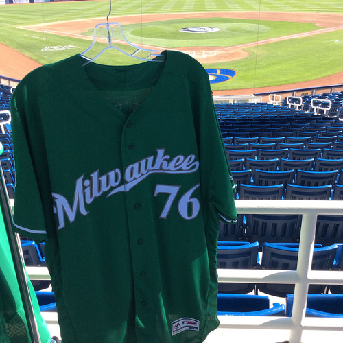 Photo of Jon Perrin 2018 Team-Issued St. Patrick's Day Jersey