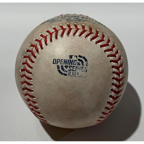 Photo of 2019 Japan Opening Day Series - Game Used Baseball - Batter: Matt Olson, Pitcher : Marco Gonzales - Flyout to CF - 3/20/19