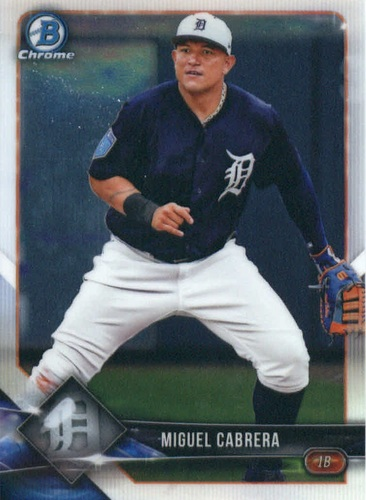 Photo of 2018 Bowman Chrome #61 Miguel Cabrera