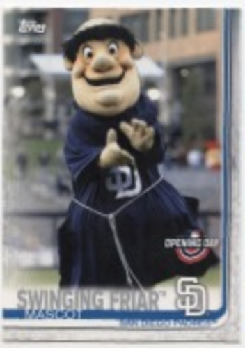 Photo of 2019 Topps Opening Day Mascots #M9 Swinging Friar