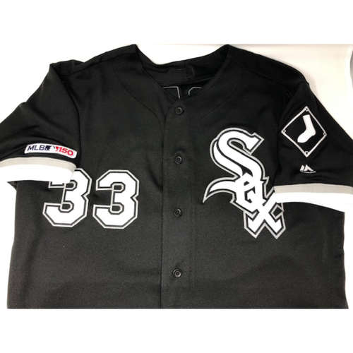 Photo of James McCann Game-Used 2019 Black Alternate Jersey