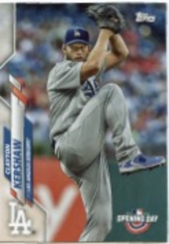 Photo of 2020 Topps Opening Day #132 Clayton Kershaw