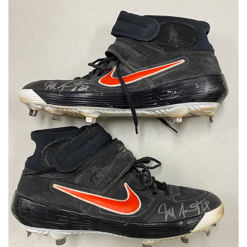 Photo of 2020 Cyber Monday Sale - #29 Jeff Samardzija Team Issued Autographed Black & Orange Nike Cleats - Size 13