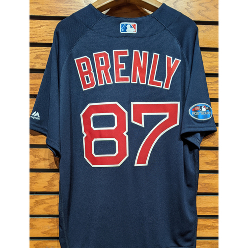 Photo of 2018 Postseason Michael Brenly #87 Team Issued Navy Road Alternate Jersey