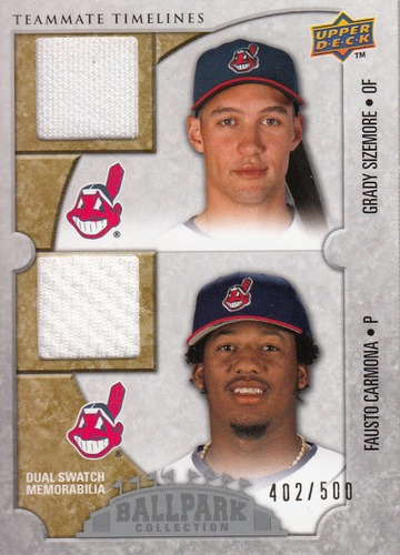 Photo of 2009 Upper Deck Ballpark Collection #140 Grady Sizemore/Fausto Carmona/500