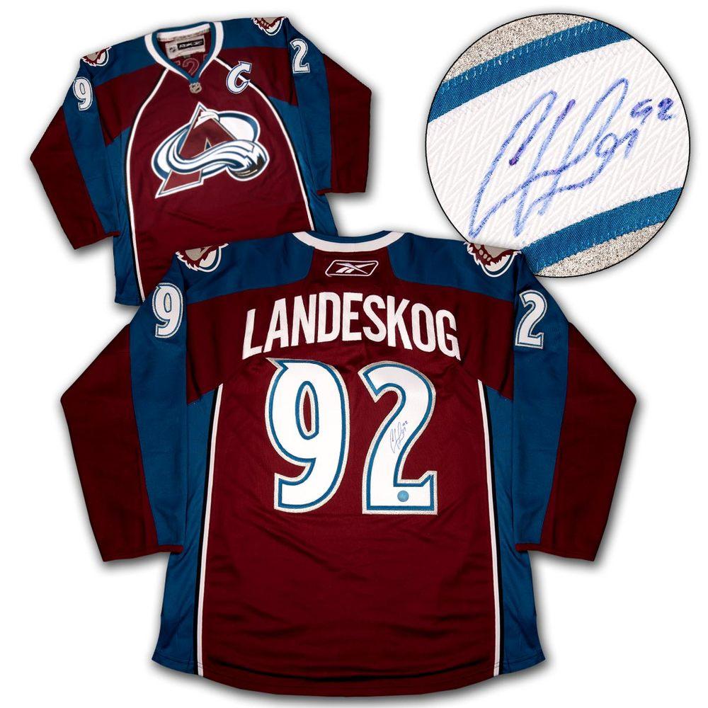 Gabriel Landeskog Colorado Avalanche Autographed Reebok Premier Hockey Jersey