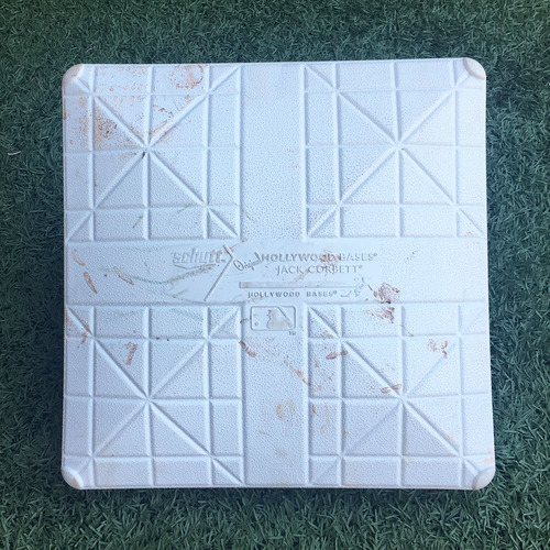 Photo of Game Used Base - Subway Series - 3rd Base, Innings 1-3 - Brandon Nimmo Hits 8th HR - Mets vs. Yankees - 6/8/18